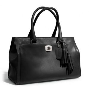 Coach Carryall Legacy Chelsea Black Leather Bag